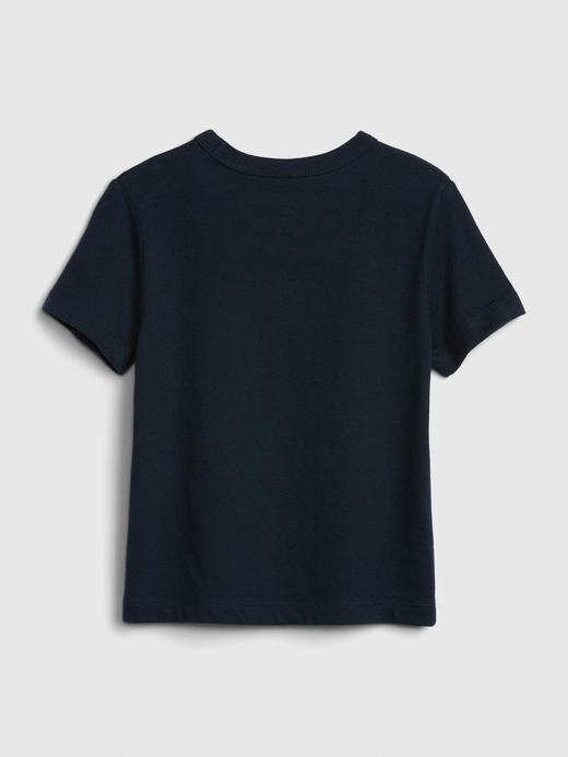 Erkek Bebek Lacivert Gap Logo Kısa Kollu T-Shirt