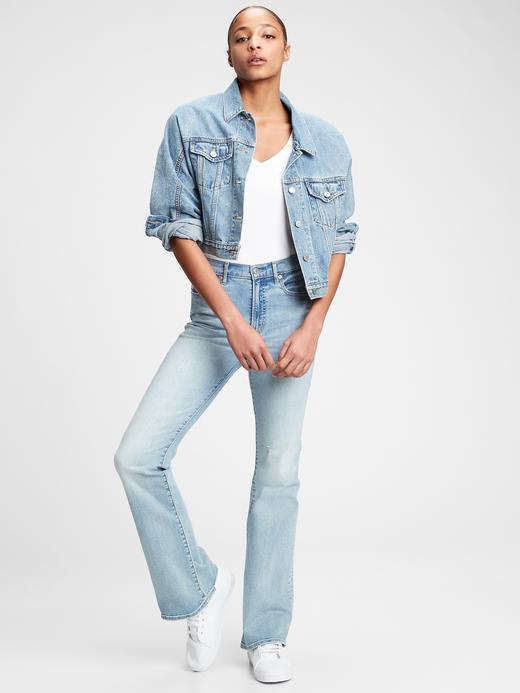 Kadın kırçıllı gri Modern V Yaka T-Shirt