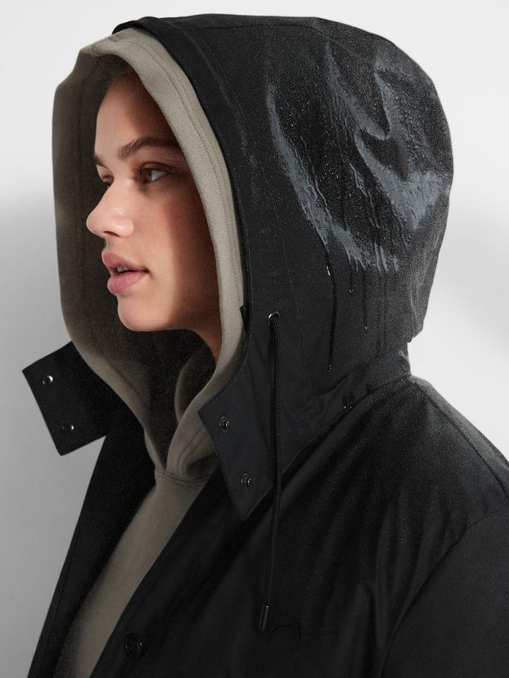 Kadın Siyah Çıkartılabilir Astarlı Yağmurluk