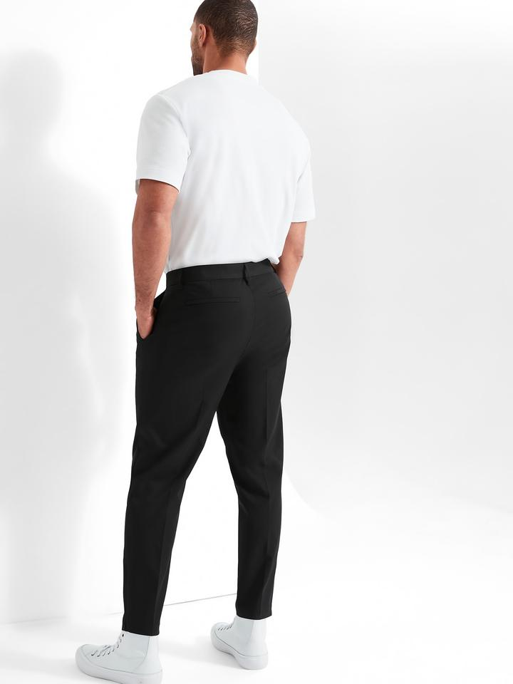 Erkek Yeşil Motion Tech Cropped Chino Pantolon