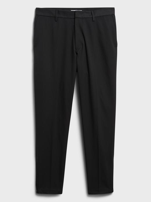 Erkek Siyah Motion Tech Cropped Chino Pantolon