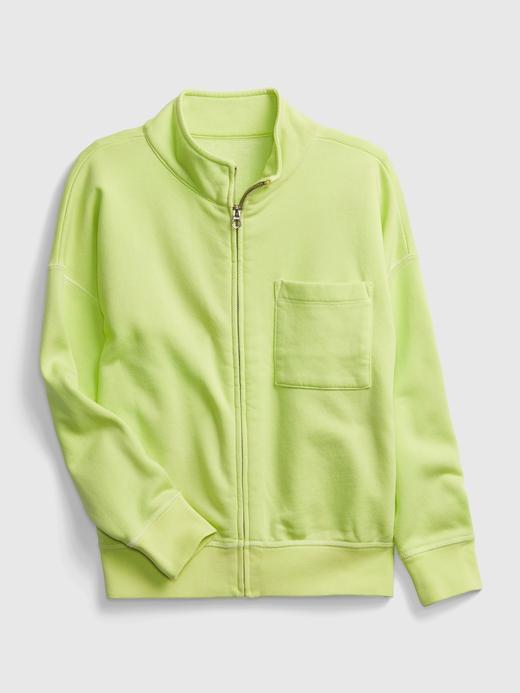 Genç Erkek Yeşil Teen Yarım Fermuarlı Sweatshirt