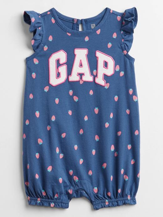Kız Bebek Lacivert Gap Logo Fırfır Detaylı Tulum