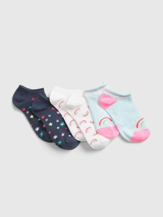 Kız Çocuk Çok Renkli 3'lü Desenli Çorap Seti