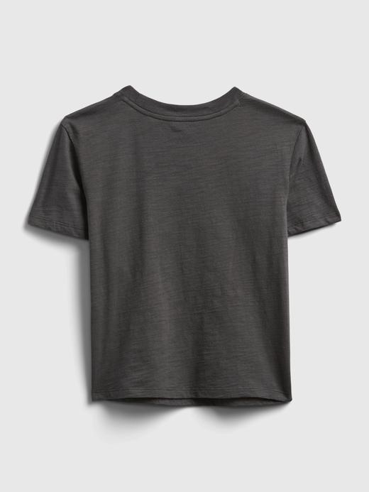 Kız Çocuk Siyah StarWars Değişen Pullu T-Shirt