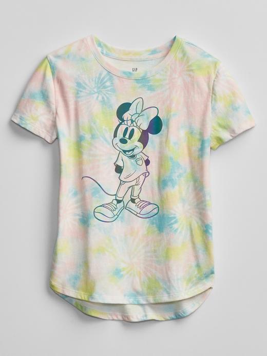 Kız Çocuk Çok Renkli Disney Minnie Mouse Grafik T-Shirt