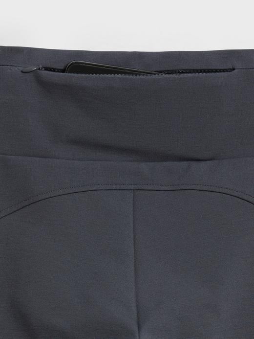 Kadın Siyah High-Rise Ponte Legging Pantolon