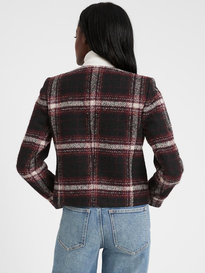 Kadın Siyah Yün Karışımlı Ceket