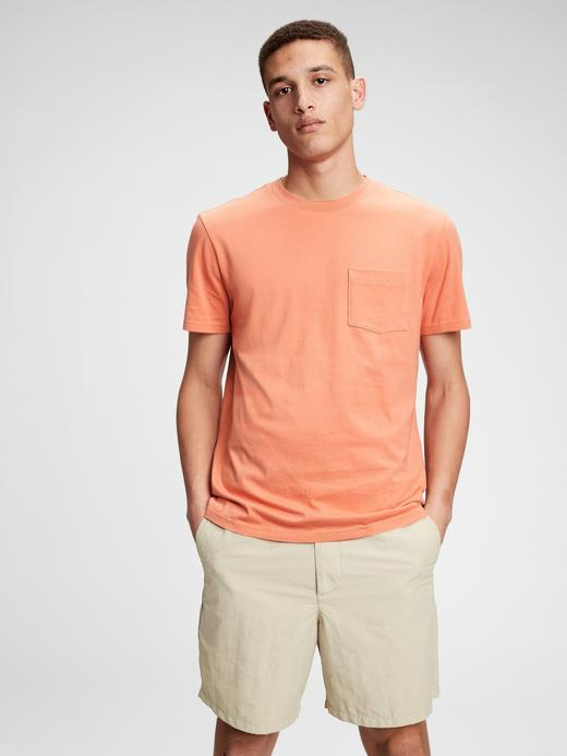 Erkek Turuncu Organik Pamuklu T-Shirt