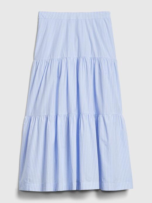 Kadın Mavi Çizgili Maxi Elbise