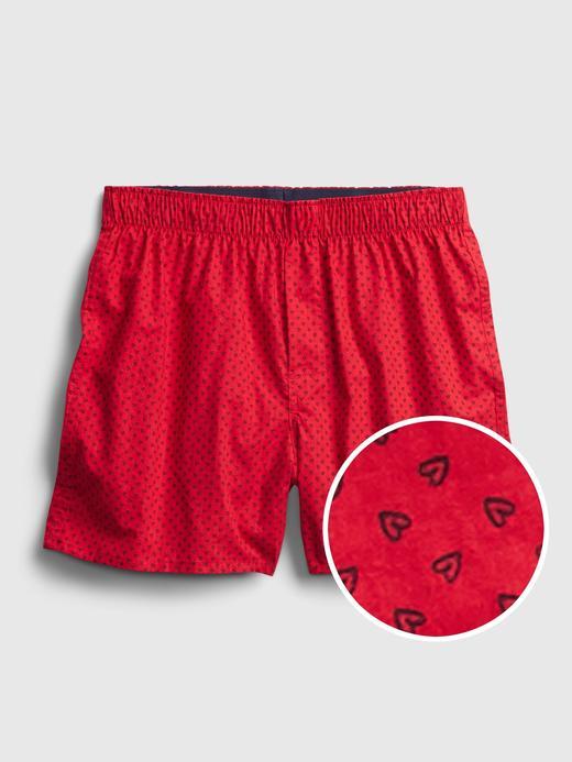Erkek Kırmızı Desenli Boxer