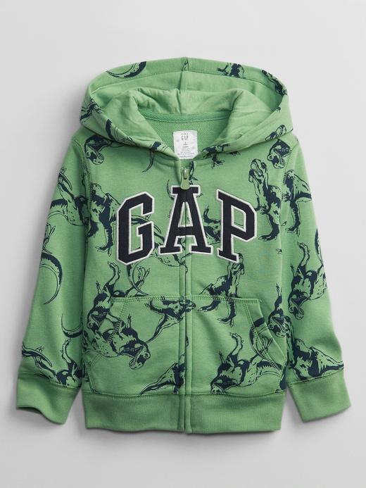Erkek Bebek Yeşil Gap Logo Kapüşonlu Sweatshirt