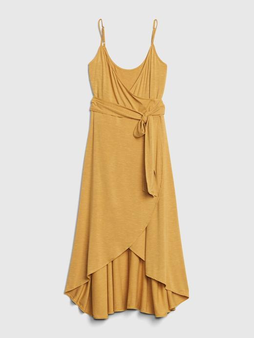 Kadın Sarı Askılı Anvelop Elbise
