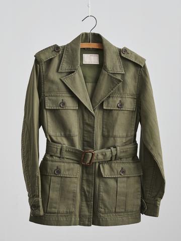 Kadın Bej Pamuk-Keten Karışımlı Ceket