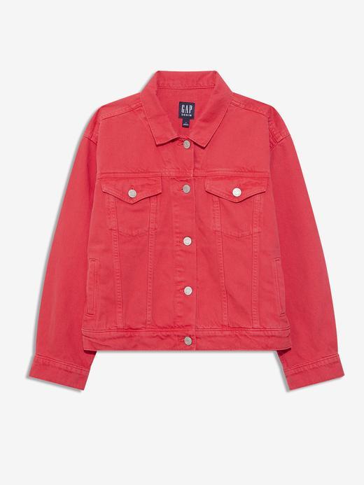 Kadın Kırmızı Denim Ceket
