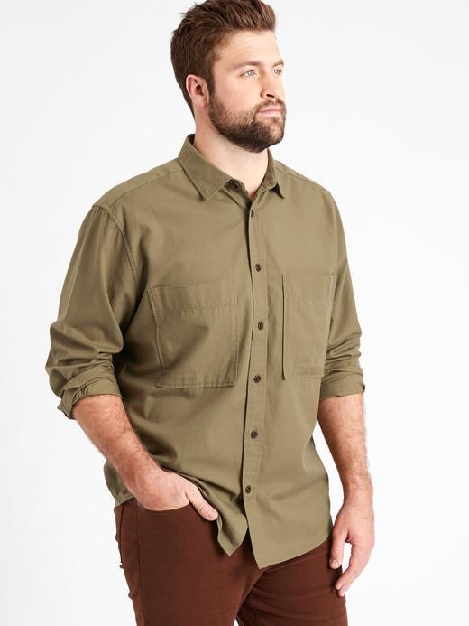 Erkek Yeşil Oversized Gömlek