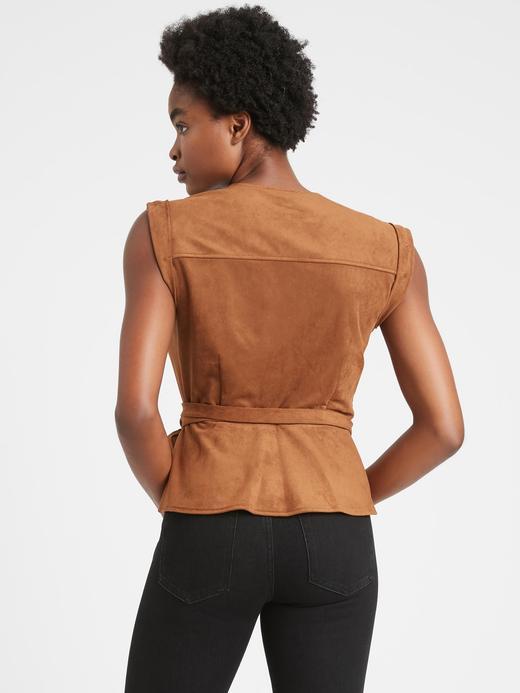 Kadın Kahverengi Vegan Suet Anvelop Bluz