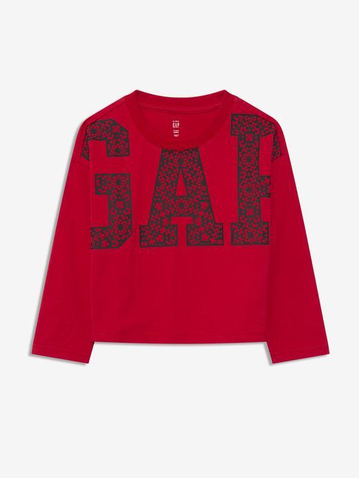 Erkek Bebek Kırmızı Gap Logo Uzun Kollu T-Shirt