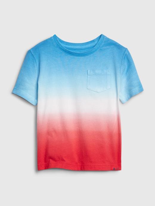 Erkek Bebek Mavi Cepli Desenli T-Shirt
