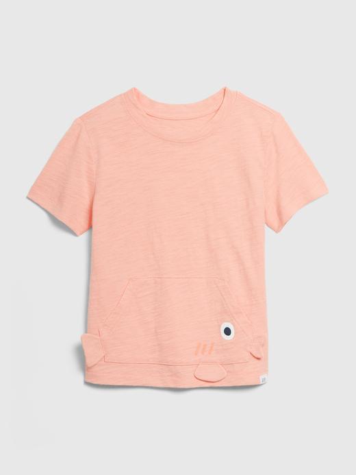 Erkek Bebek Turuncu 3 Boyutlu Cep Detaylı T-Shirt