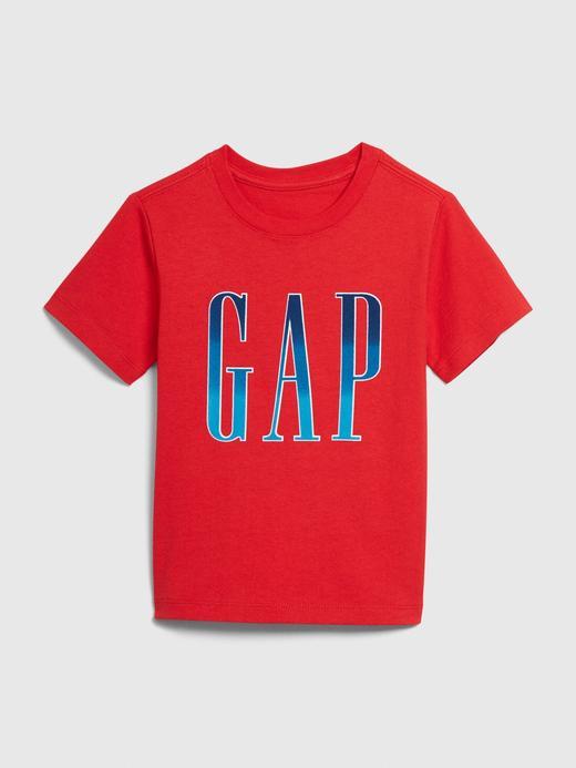Erkek Bebek Kırmızı Gap Logo Kısa Kollu T-shirt