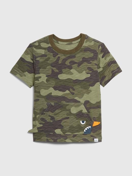 Erkek Bebek Yeşil 3 Boyutlu Cep Detaylı T-Shirt