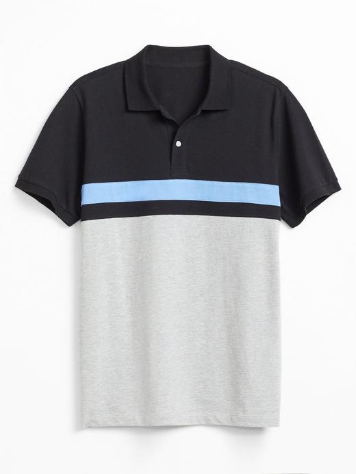 Erkek Siyah Pique Kısa Kollu Polo T-Shirt
