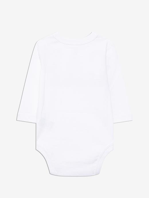 Erkek Bebek Beyaz Gap Logo Uzun Kollu Body