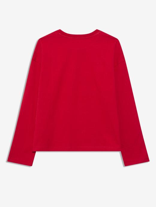 Erkek Çocuk Kırmızı Gap Logo Uzun Kollu T-Shirt