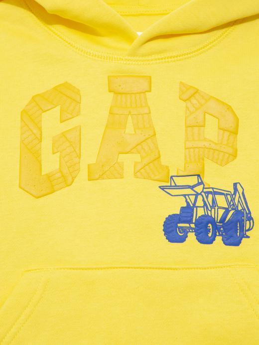 Erkek Bebek Sarı Gap Logo Kapüşonlu Sweatshirt