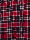 Erkek Kırmızı Ekose Oxford Gömlek