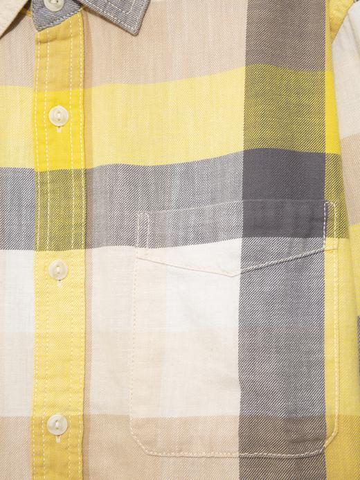 Erkek Sarı Ekose Gömlek