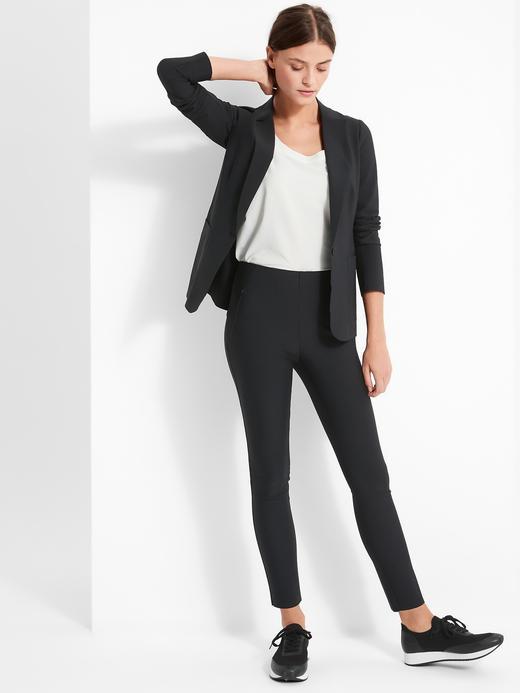 Kadın Siyah Luxe Sculpt Skinny Fit Pantolon