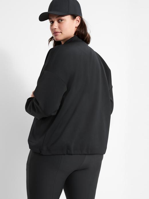 Kadın Siyah Neopren Bomber Ceket