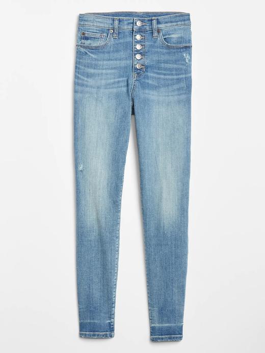 Kadın Mavi High Rise Legging Jean Pantolon