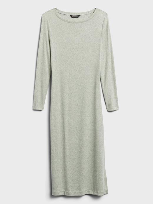 Kadın Yeşil Uzun Kollu Midi Elbise