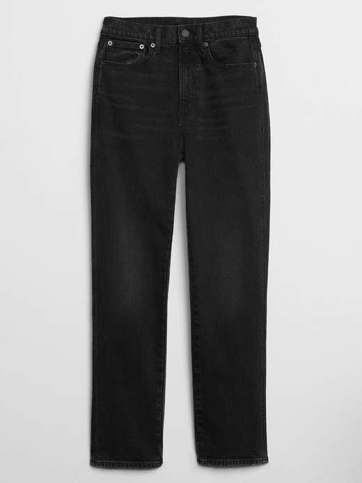Kadın Siyah High Rise Cigarette Jean Pantolon