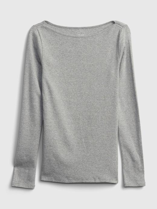Kadın Gri Modern Yuvarlak Yaka T-Shirt