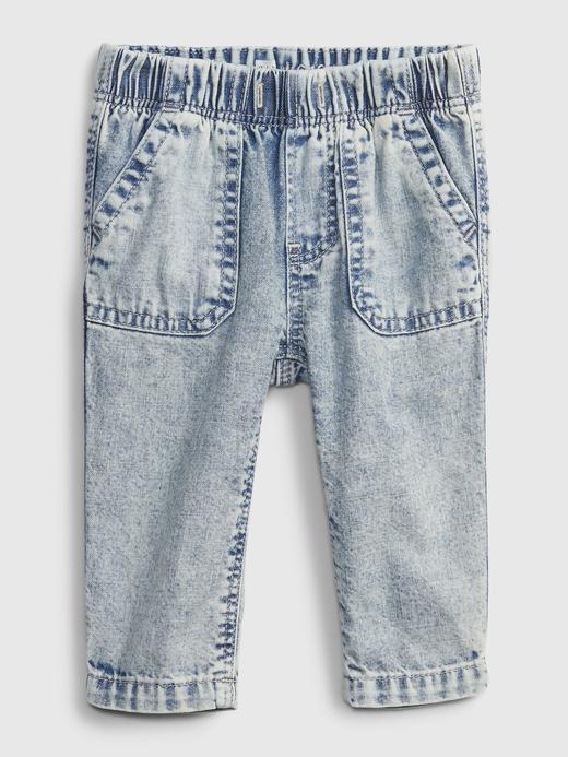 Erkek Bebek Mavi Pull-On Jean Pantolon