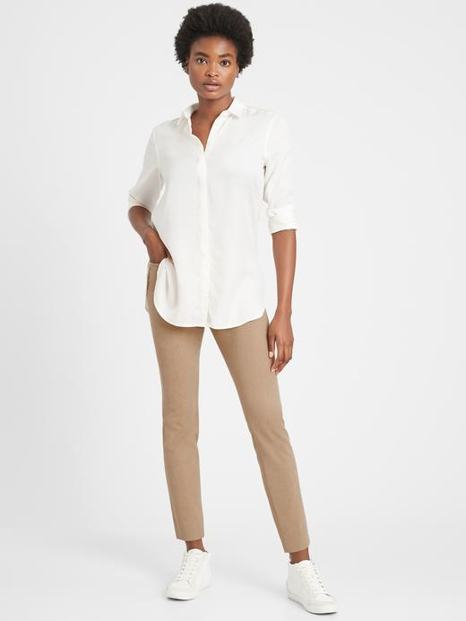 Kadın Bej Mid-Rise Skinny Sloan Pantolon