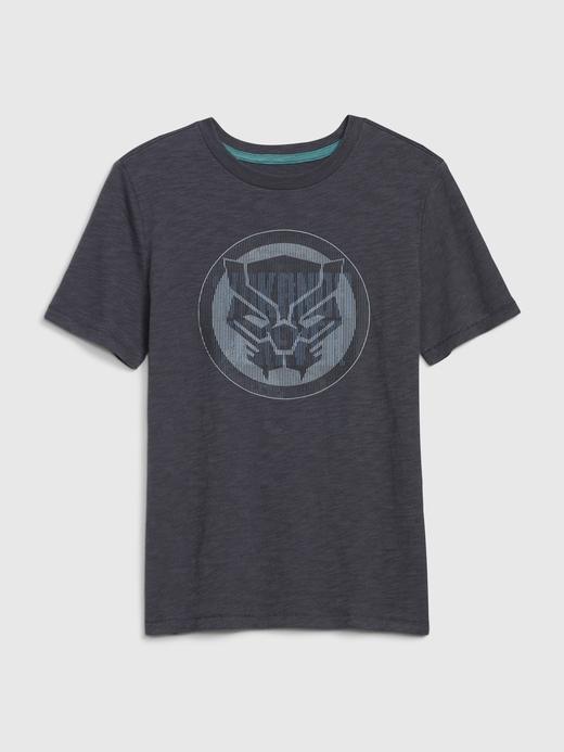 Erkek Çocuk Gri Marvel Hologram T-Shirt