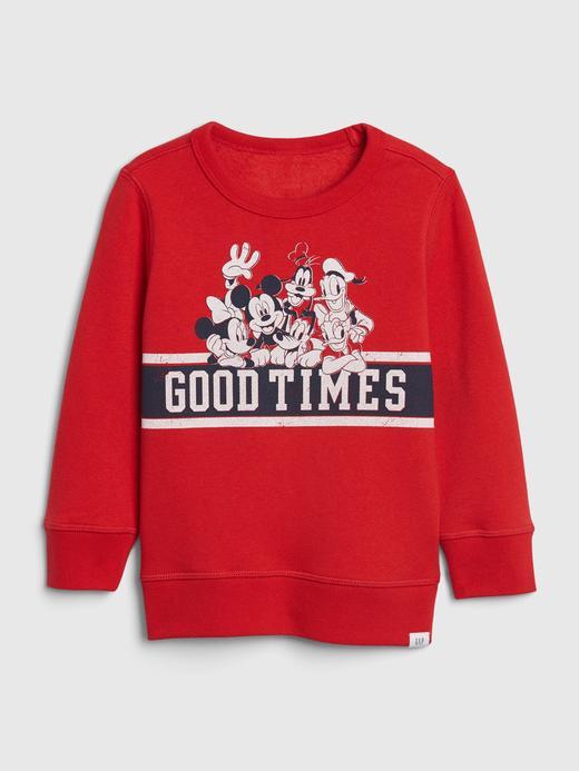 Erkek Bebek Kırmızı Disney Yuvarlak Yaka Sweatshirt