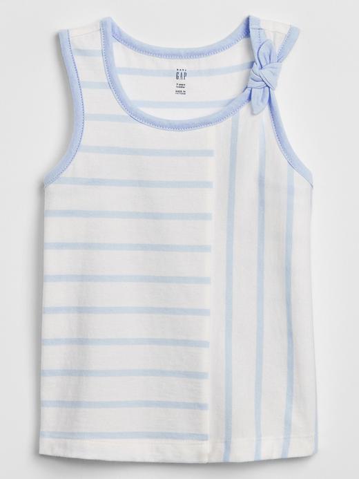 Kız Bebek Mavi Fiyonk Detaylı Bluz