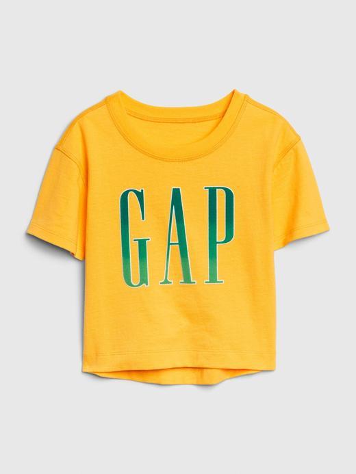 Kız Bebek Sarı Gap Logo Kısa Kollu T-shirt