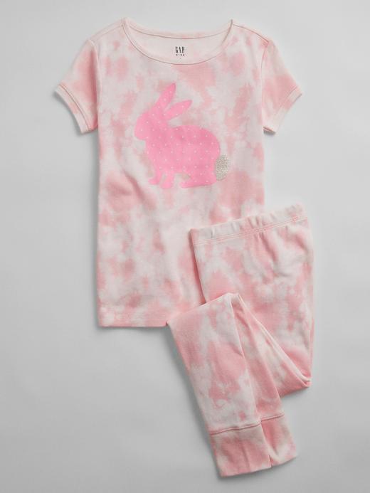 Kız Çocuk Pembe Tie-Dye Pijama Takımı