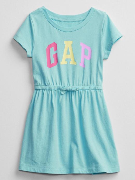 Kız Bebek Mavi Kısa Kollu Elbise