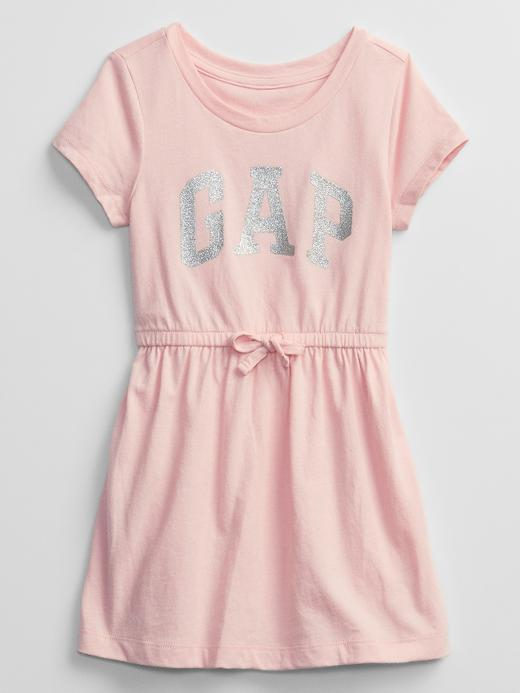 Kız Bebek Pembe Kısa Kollu Elbise