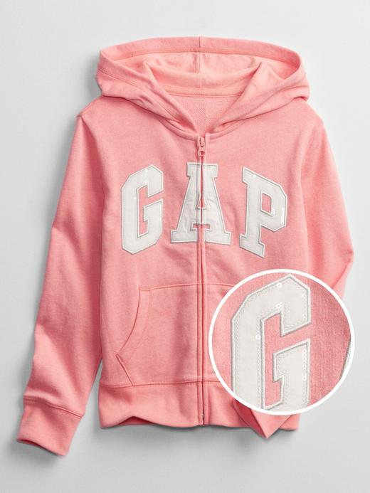 Kız Çocuk Pembe Gap Logo Kapüşonlu Sweatshirt