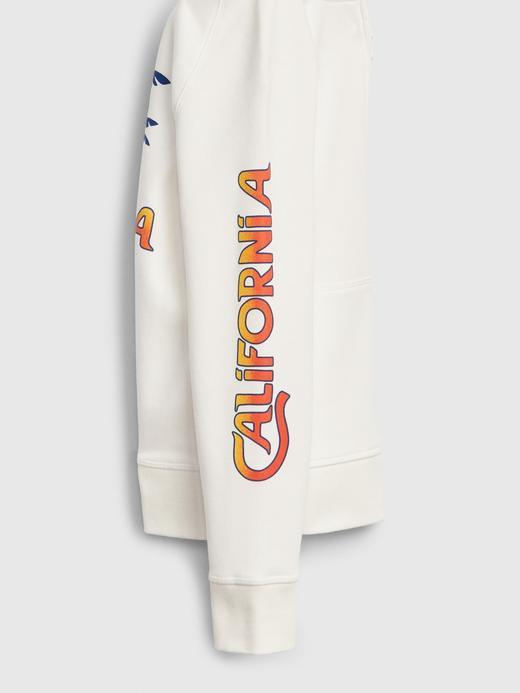 Erkek Çocuk Beyaz Kapüşonlu Grafik Sweatshirt