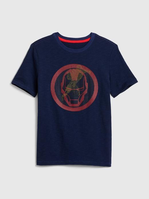 Erkek Çocuk Lacivert Marvel Hologram T-Shirt